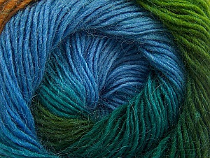 Fiber Content 60% Premium Acrylic, 20% Wool, 20% Alpaca, Turquoise, Brand ICE, Green Shades, Gold, Blue, fnt2-58398