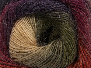 Fiber Content 60% Premium Acrylic, 20% Alpaca, 20% Wool, Purple, Orange, Brand ICE, Green, Cream, Camel, Burgundy, fnt2-58402