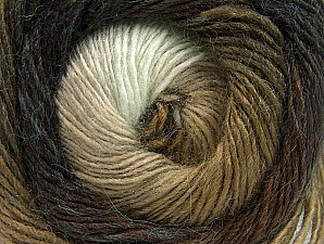 Fiber Content 60% Premium Acrylic, 20% Alpaca, 20% Wool, Brand ICE, Brown Shades, Yarn Thickness 2 Fine  Sport, Baby, fnt2-58416