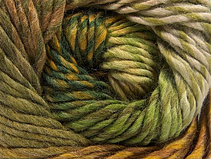 Fiber Content 70% Wool, 30% Acrylic, Brand ICE, Green Shades, Gold, Brown, Yarn Thickness 5 Bulky  Chunky, Craft, Rug, fnt2-58440