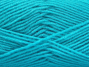 Fiber Content 60% Acrylic, 40% Wool, Turquoise, Brand ICE, fnt2-58459