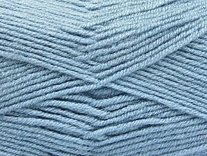 Fiber Content 50% Acrylic, 50% Wool, Light Blue, Brand ICE, fnt2-58561