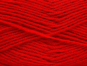 Fiber Content 50% Acrylic, 50% Wool, Red, Brand ICE, fnt2-58564