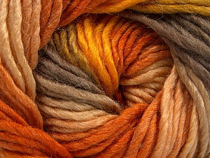 Fiber Content 50% Wool, 50% Acrylic, Orange, Brand ICE, Gold, Camel, fnt2-58581