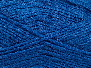 Fiber Content 50% Wool, 50% Acrylic, Brand ICE, Blue, Yarn Thickness 4 Medium  Worsted, Afghan, Aran, fnt2-58692