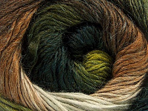 Fiber Content 60% Premium Acrylic, 20% Alpaca, 20% Wool, White, Brand ICE, Green Shades, Brown Shades, fnt2-59053