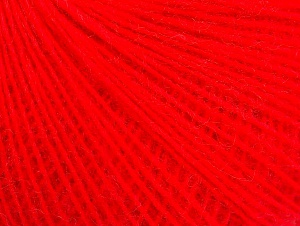 Fiber Content 50% Acrylic, 30% Wool, 20% Mohair, Neon Red, Brand ICE, fnt2-59106