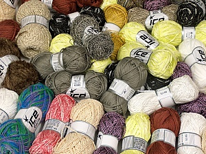 Summer Yarns This mixed lot includes a total of 2000 gr (70.5 oz.) yarn. There is no standard for ball weight. Also disregard any information on the labels. You will get what you see in the photo. Brand ICE, fnt2-59461