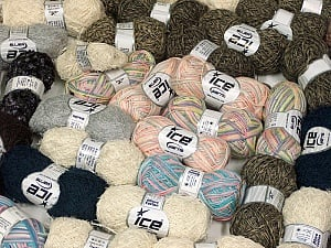 Summer Yarns This mixed lot includes a total of 2000 gr (70.5 oz.) yarn. There is no standard for ball weight. Also disregard any information on the labels. You will get what you see in the photo. Brand ICE, fnt2-59468