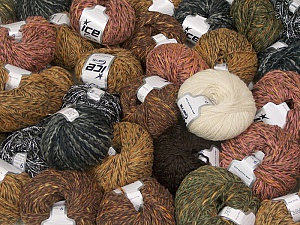 Winter Yarns This mixed lot includes a total of 2000 gr (70.5 oz.) yarn. There is no standard for ball weight. Also disregard any information on the labels. You will get what you see in the photo. Brand ICE, fnt2-59471