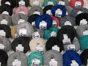 Winter Yarns This mixed lot includes a total of 2000 gr (70.5 oz.) yarn. There is no standard for ball weight. Also disregard any information on the labels. You will get what you see in the photo. Brand ICE, fnt2-59483