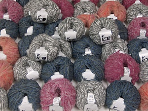 Winter Yarns This mixed lot includes a total of 2000 gr (70.5 oz.) yarn. There is no standard for ball weight. Also disregard any information on the labels. You will get what you see in the photo. Brand ICE, fnt2-59506