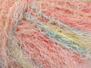 Fiber Content 40% Viscose, 30% Polyamide, 30% Wool, Pink Shades, Light Yellow, Brand ICE, Baby Blue, fnt2-59583