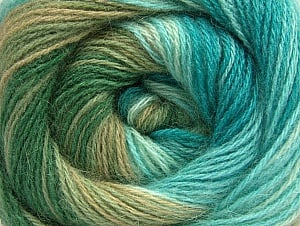 Fiber Content 60% Acrylic, 20% Wool, 20% Angora, Turquoise, Brand ICE, Green Shades, fnt2-59757