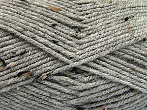 Fiber Content 95% Acrylic, 5% Viscose, Light Grey, Brand ICE, Brown Shades, fnt2-59763