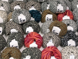Winter Yarns This mixed lot includes a total of 2000 gr (70.5 oz.) yarn. There is no standard for ball weight. Also disregard any information on the labels. You will get what you see in the photo. Brand ICE, fnt2-59863