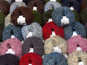 Winter Yarns This mixed lot includes a total of 2000 gr (70.5 oz.) yarn. There is no standard for ball weight. Also disregard any information on the labels. You will get what you see in the photo. Brand ICE, fnt2-59877