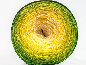 Fiber Content 50% Cotton, 50% Acrylic, Yellow, White, Brand ICE, Green Shades, fnt2-59954