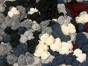 Peru Alpaca Leftover This mixed lot includes about 100 hanks of Peru Alpaca leftover yarns. There is no standard for fiber content and weight. The total weight is 2000 gr (70.5 oz.). Fiber Content 50% Merino Wool, 25% Acrylic, 25% Alpaca, Brand ICE, fnt2-60311