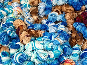 Magic Light Leftover This lot consists of about 100 hanks of Magic Light leftover yarn. The total weight is 2000 gr (70.5 oz.). Fiber Content 100% Acrylic, Brand ICE, fnt2-60384
