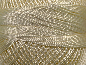 Fiber Content 100% Micro Fiber, Brand YarnArt, Cream, Yarn Thickness 0 Lace  Fingering Crochet Thread, fnt2-17308