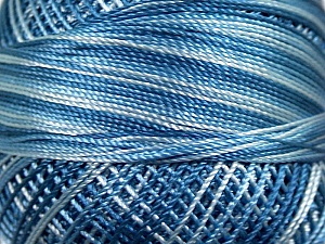 Fiber Content 100% Micro Fiber, Brand YarnArt, Blue Shades, Yarn Thickness 0 Lace  Fingering Crochet Thread, fnt2-17329