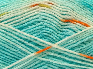 Fiber Content 100% Baby Acrylic, White, Turquoise, Brand ICE, Copper, Yarn Thickness 2 Fine  Sport, Baby, fnt2-22044