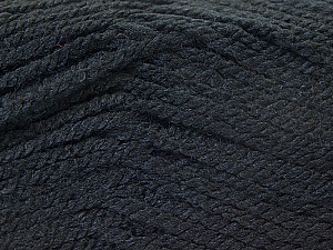 Fiber Content 100% Acrylic, Brand ICE, Black, Yarn Thickness 3 Light  DK, Light, Worsted, fnt2-22410