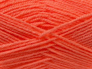 Fiber Content 100% Acrylic, Light Salmon, Brand ICE, Yarn Thickness 3 Light  DK, Light, Worsted, fnt2-22431