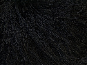 Fiber Content 100% Polyester, Brand ICE, Black, Yarn Thickness 5 Bulky  Chunky, Craft, Rug, fnt2-22743
