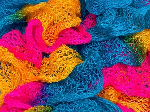 Fiber Content 100% Acrylic, Yellow, Turquoise, Pink, Brand ICE, Yarn Thickness 6 SuperBulky  Bulky, Roving, fnt2-23165