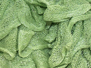 A fresh scarf  yarn wiith cotton content. Shiny and fresh! Fiber Content 70% Cotton, 30% Nylon, Brand ICE, Green, Yarn Thickness 6 SuperBulky  Bulky, Roving, fnt2-23317