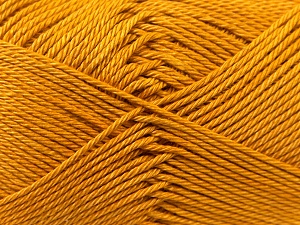 Fiber Content 100% Mercerised Cotton, Brand ICE, Gold, Yarn Thickness 2 Fine  Sport, Baby, fnt2-23325