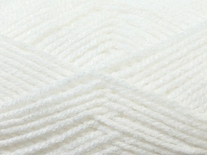 Worsted  Fiber Content 100% Acrylic, White, Brand ICE, Yarn Thickness 4 Medium  Worsted, Afghan, Aran, fnt2-23721