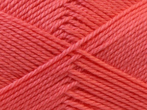 Fiber Content 100% Acrylic, Salmon, Brand ICE, Yarn Thickness 2 Fine  Sport, Baby, fnt2-23894