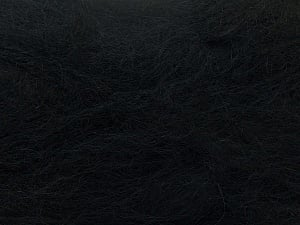 Fiber Content 70% Mohair, 30% Acrylic, Brand ICE, Black, Yarn Thickness 5 Bulky  Chunky, Craft, Rug, fnt2-24639