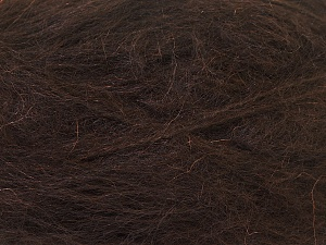 Fiber Content 70% Mohair, 30% Acrylic, Brand ICE, Dark Brown, Yarn Thickness 5 Bulky  Chunky, Craft, Rug, fnt2-24649