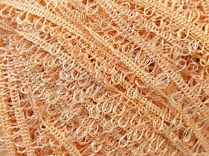 Fiber Content 100% Polyester, Light Orange, Brand Kuka Yarns, Yarn Thickness 3 Light  DK, Light, Worsted, fnt2-24754