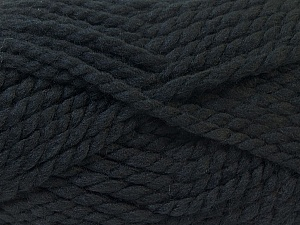 SuperBulky  Fiber Content 55% Acrylic, 45% Wool, Brand ICE, Black, Yarn Thickness 6 SuperBulky  Bulky, Roving, fnt2-24935