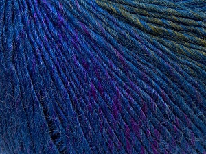 Fiber Content 50% Acrylic, 50% Wool, Purple, Khaki, Brand ICE, Blue, Yarn Thickness 3 Light  DK, Light, Worsted, fnt2-27151