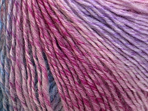 Fiber Content 50% Acrylic, 50% Wool, Pink, Lilac, Brand Ice Yarns, Blue, Yarn Thickness 3 Light  DK, Light, Worsted, fnt2-27155