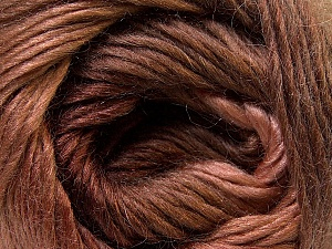 Fiber Content 40% Wool, 30% Mohair, 30% Acrylic, Brand ICE, Brown Shades, Yarn Thickness 3 Light  DK, Light, Worsted, fnt2-27201