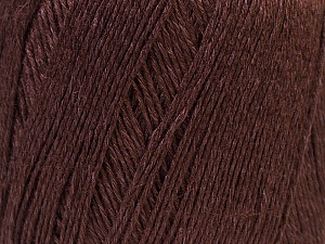 Fiber Content 50% Viscose, 50% Linen, Brand ICE, Dark Brown, Yarn Thickness 2 Fine  Sport, Baby, fnt2-27254