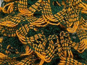 Fiber Content 97% Acrylic, 3% Lurex, Yellow, Brand ICE, Green, Gold, Yarn Thickness 6 SuperBulky  Bulky, Roving, fnt2-27375