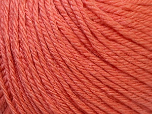 Fiber Content 50% Silk, 30% Merino Superfine, 20% Cashmere, Salmon, Brand ICE, Yarn Thickness 3 Light  DK, Light, Worsted, fnt2-30787