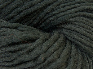 In this yarn a 100% Wool yarn is used. Dyeing process is totally hand made with natural plants and NO chemicals were used. For this reason, please be advised that some white parts may remain. Fiber Content 100% Wool, Brand ICE, Dark Green, Yarn Thickness 5 Bulky  Chunky, Craft, Rug, fnt2-32033