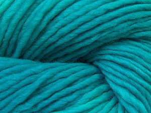 In this yarn a 100% Wool yarn is used. Dyeing process is totally hand made with natural plants and NO chemicals were used. For this reason, please be advised that some white parts may remain. Fiber Content 100% Wool, Brand ICE, Emerald Green, Yarn Thickness 5 Bulky  Chunky, Craft, Rug, fnt2-32037
