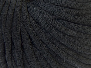 This is a tube-like yarn with soft cotton fleece filled inside. Fiber Content 70% Cotton, 30% Polyester, Brand Ice Yarns, Black, Yarn Thickness 5 Bulky  Chunky, Craft, Rug, fnt2-32485