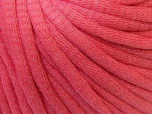 This is a tube-like yarn with soft cotton fleece filled inside. Fiber Content 70% Cotton, 30% Polyester, Brand ICE, Candy Pink, Yarn Thickness 5 Bulky  Chunky, Craft, Rug, fnt2-32498
