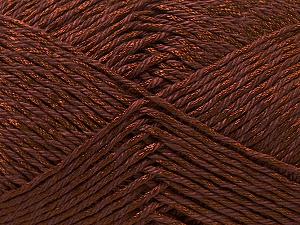 Fiber Content 50% Cotton, 50% Polyester, Brand ICE, Brown, Yarn Thickness 2 Fine  Sport, Baby, fnt2-33042